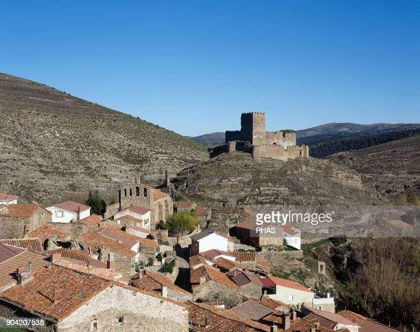 Magaña province of Soria Castile and Leon Spain Panoramic of the town and the castle