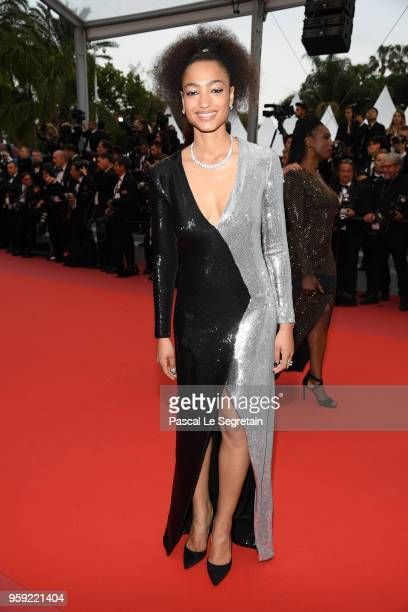 Magaajyia Silberfeld author of the book 'Noire n'est pas mon métier ' attends the screening of Burning during the 71st annual Cannes Film Festival at...