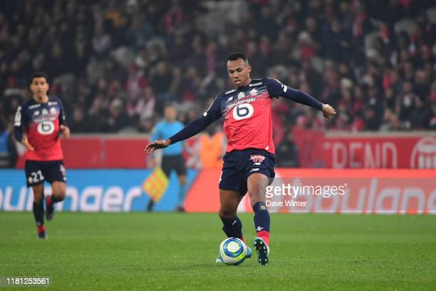 Magalhaes of Lille during the Ligue 1 match between Lille and Metz at Stade Pierre Mauroy on November 9 2019 in Lille France