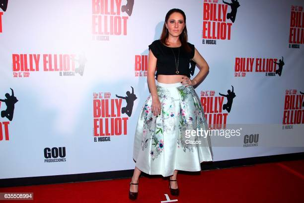 Magali Boyselle poses for the camera during the opening night of Billy Elliot Music Show on February 15 2017 in Mexico City Mexico