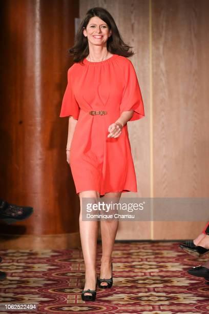 Magali Lunel attends the Sauvez Le Coeur Des Femmes Red Defile Show At Hotel Marrriot In Paris on November 16 2018 in Paris France