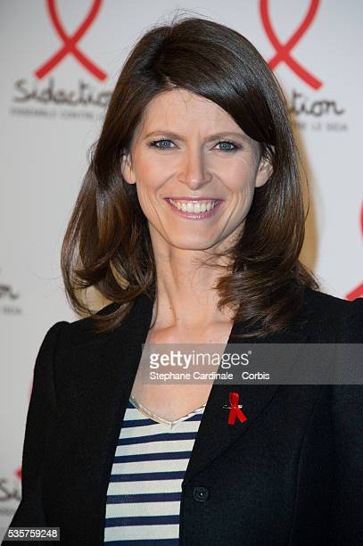 Magali Lunel attends the Sidaction 2012 Press Conference at Musee du quai Branly in Paris