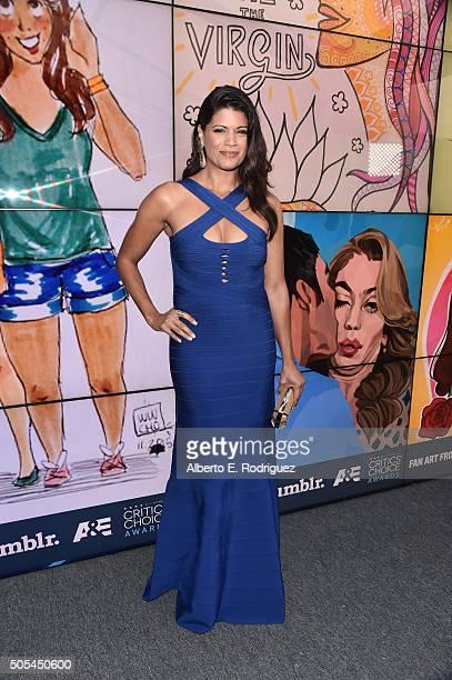 Magali Rodriguez attends the 21st Annual Critics' Choice Awards at Barker Hangar on January 17 2016 in Santa Monica California