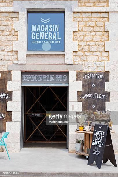 "magasin generale porta d'ingresso, espace darwin bordeaux, in francia. - ""martine doucet"" or martinedoucet foto e immagini stock"