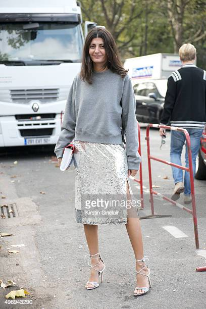 Magazine Contributor and Fashion Editor for Vogue Japan Giovanna Battaglia on day 6 during Paris Fashion Week Spring/Summer 2016/17 on October 4 2015...