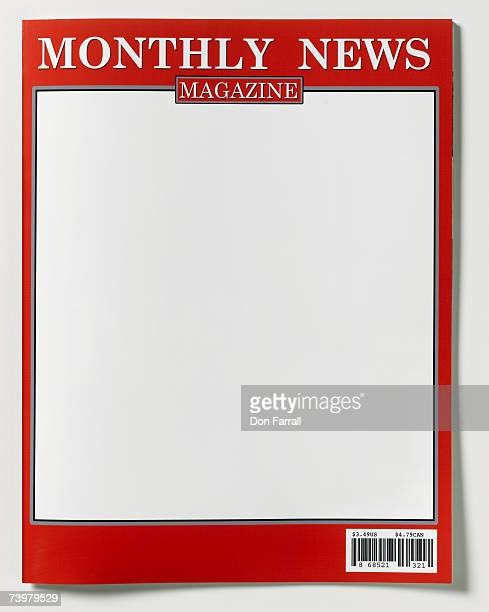 Magazine cover blank mock-up, close-up