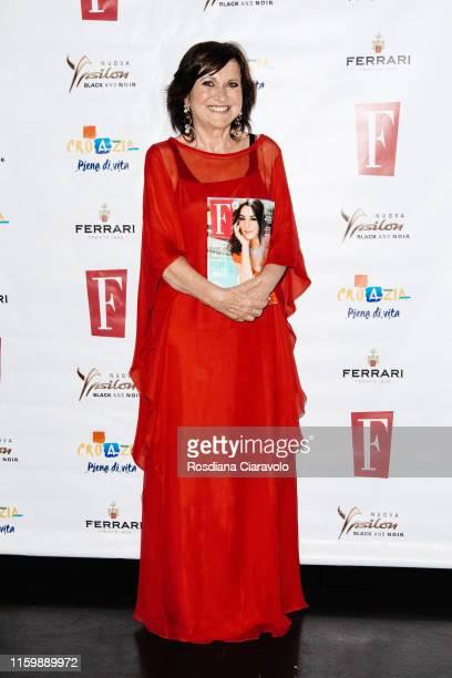 Magazine Director Marisa Deimichei attends the F Magazine Party at Filippo La Mantia Oste e Cuoco restaurant on July 03, 2019 in Milan, Italy.