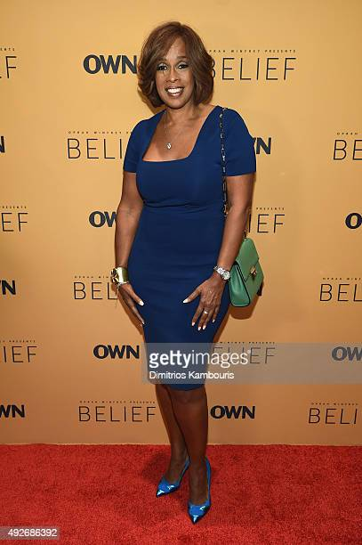Magazine editor Gayle King attends the 'Belief' New York premiere at TheTimesCenter on October 14 2015 in New York City
