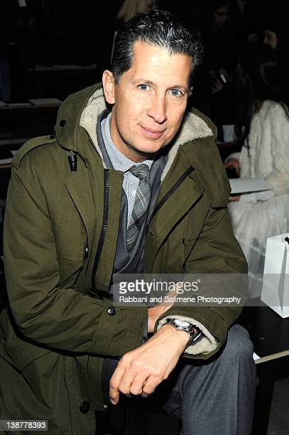 Magazine Editor in Chief Stefano Tonchi attends the Alexander Wang Fall 2012 fashion show during MercedesBenz Fashion Week at Pier 94 on February 11...