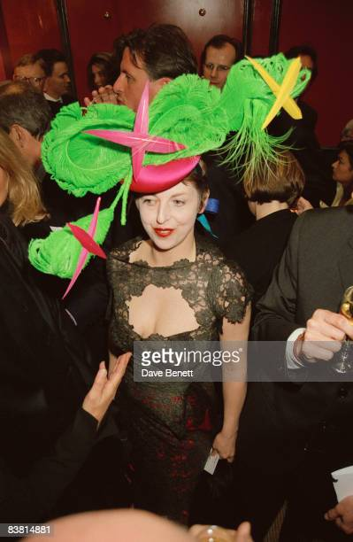 Magazine editor Isabella Blow at the opening of a new Christian Lacroix shop in London 4th April 1995