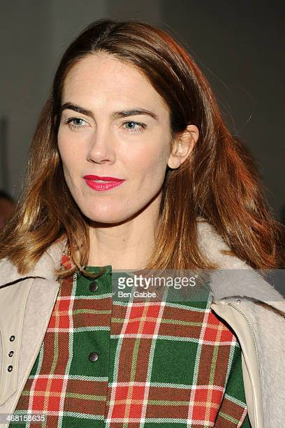 Magazine editor JJ Martin attends the Thakoon fashion show during MercedesBenz Fashion Week Fall 2014 on February 9 2014 in New York City