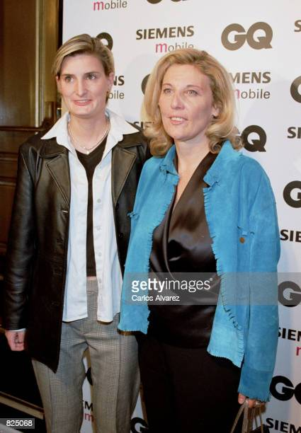GQ magazine editor Sandra Del Rio right and Maria Zurita Spanish King Juan Carlos'' niece attend the Spring/Summer 2001 GQ fashion show party May 7...
