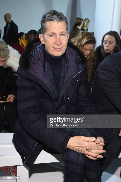 Magazine Editor Stefano Tonchi attends the Calvin Klein Collection Front Row during New York Fashion Week on February 10 2017 in New York City