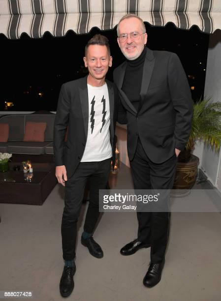 Magazine EditorinChief Jim Nelson and GQ Creative Director Jim Moore attend GQ and Dior Homme private dinner in celebration of The 2017 GQ Men Of The...