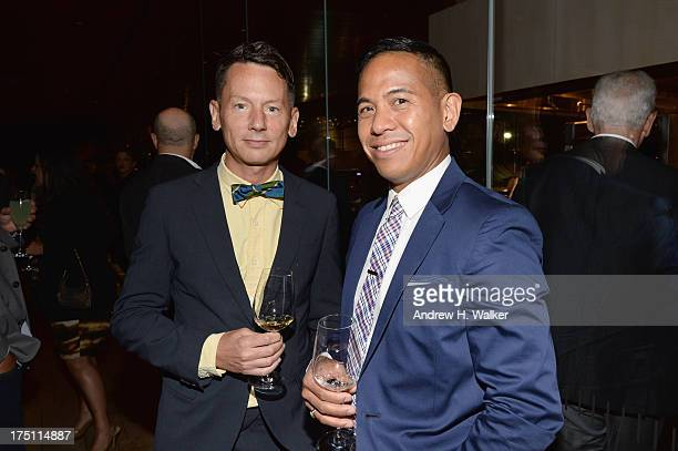 GQ magazine editorinchief Jim Nelson and John Mario Sevilla attend the Breaking Bad NY Premiere 2013 after party at Lincoln Ristorante on July 31...