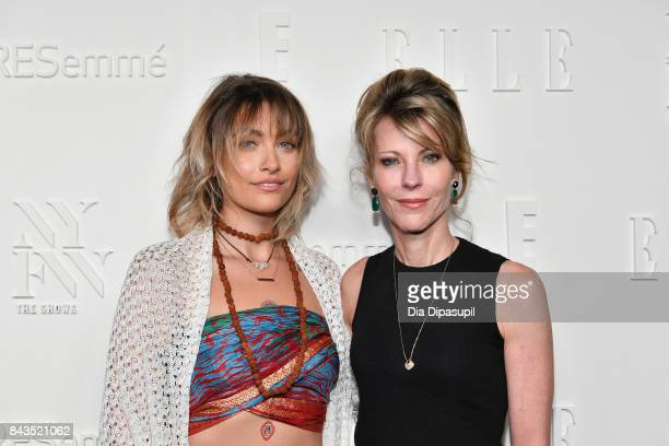 Magazine EditorinChief Robbie Myers and Paris Jackson attend the NYFW Kickoff Party A Celebration Of Personal Style hosted by E ELLE IMG and...