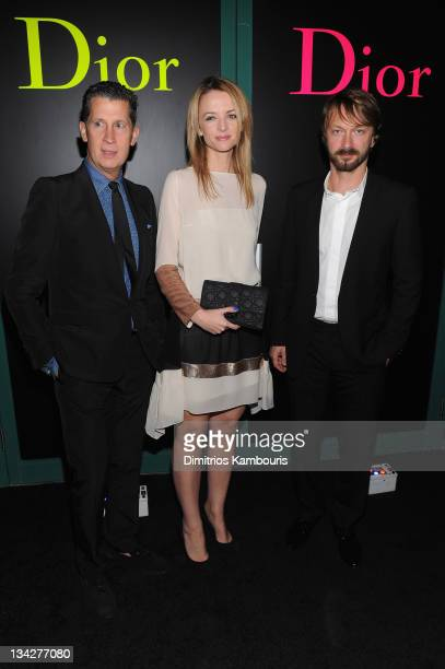 W magazine EditorinChief Stefano Tonchi Delphine Arnault and Anselm Reyle attend the Dior popup shop featuring Anselm Reyle for Dior at Miami Design...