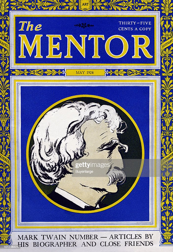 A magazine featuring the famous American author Mark Twain, aka Samuel Clemens.