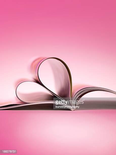Magazine or book folded heart shape