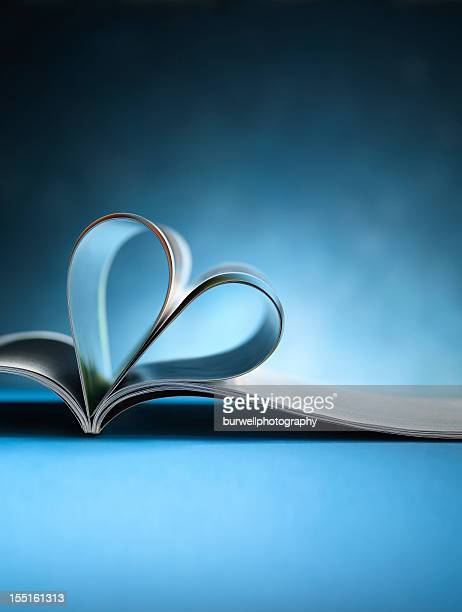 Magazine or book, Heart Shaped