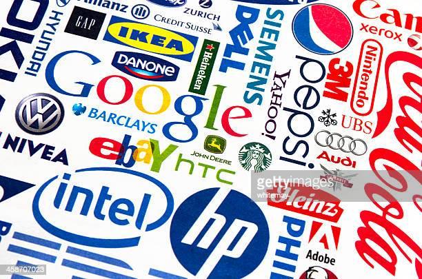 zeitschrift seite von logos - gafam stock-fotos und bilder