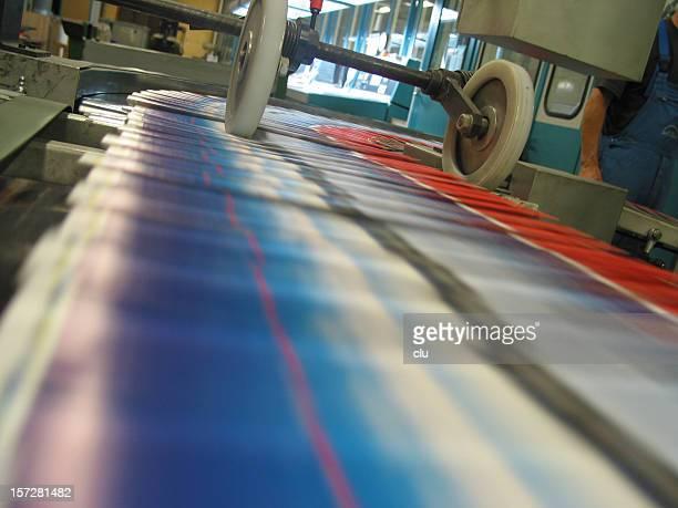 Zeitschrift print production Blick auf Boot