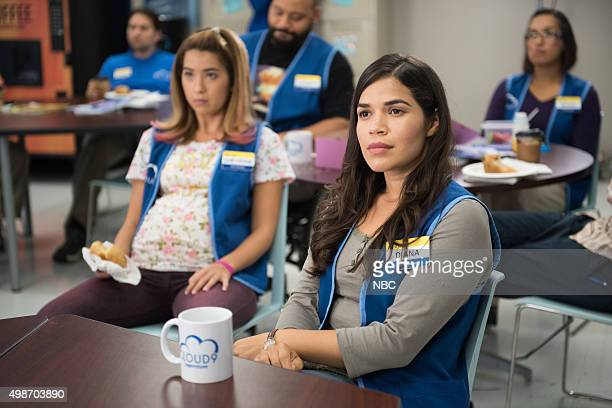 SUPERSTORE 'Magazine Profile' Episode 106 Pictured Nichole Bloom as Cheyenne America Ferrera as Amy