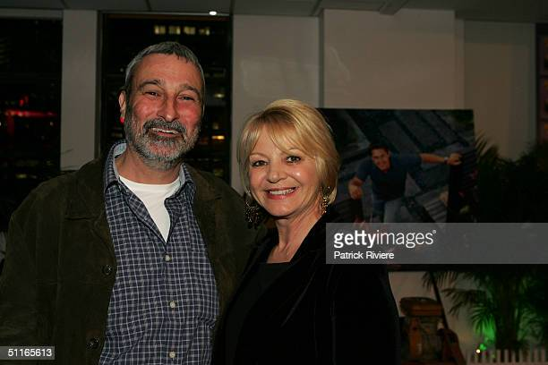 """Magazine publisher Pat Ingram and television personality Don Burke at the book lauch of """"Backyard Blitz"""" at the Museum of Cotemporary Art August 13,..."""