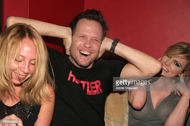 OK Magazine society editor Jennifer Birn actor Dean Winters and girlfriend designer Dara Young attends Crush Management OK Magazine's Viva La Karaoke...
