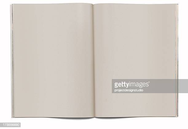 magazine spread blank - blank magazine ad stock pictures, royalty-free photos & images