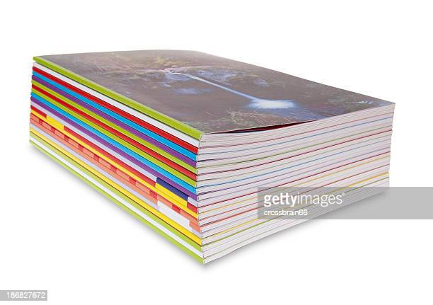 magazine stack - magazine stock pictures, royalty-free photos & images