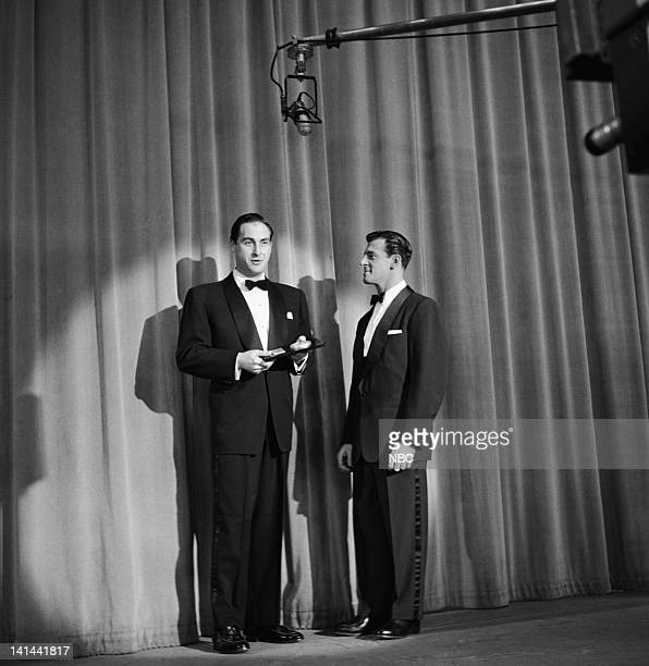 SHOW LOOK Magazine TV Awards Episode 416 Pictured Best Comedian or Comedy Team winner Sid Caesar host Paul Winchell Photo by NBC/NBCU Photo Bank