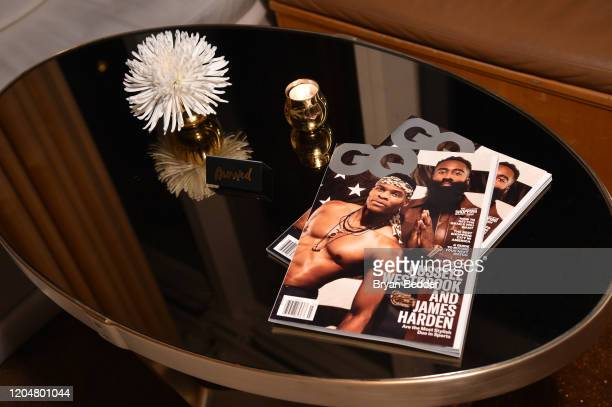 Magazines at the GQ March Cover Party at The Standard Highline on March 01 2020 in New York City