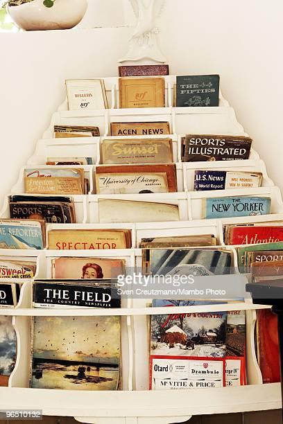 Magazines in the livingroom of Ernest Hemingway�s house at the Finca Vigia on January 6 2007 in Havana Cuba The Hemingway Finca Vigia now turned into...