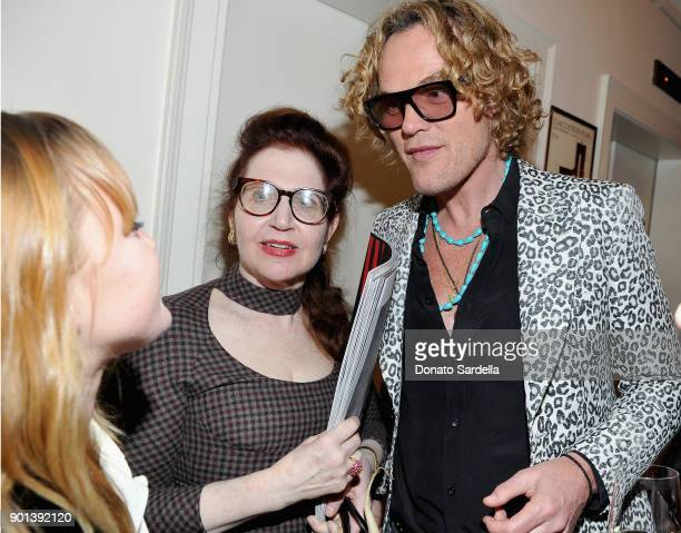 Magazine's Lynn Hirschberg and Peter Dundas attend W Magazine's Celebration of its 'Best Performances' Portfolio and the Golden Globes with Audi Dior...