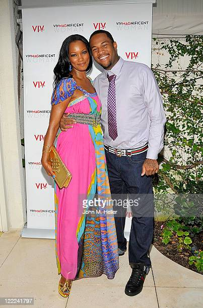 VIV Magazines Pioneer Award recipient actress Garcelle Beauvais and Oliver Saunders attend the Midsummer Night's A Passport To Luxury Fete Series...