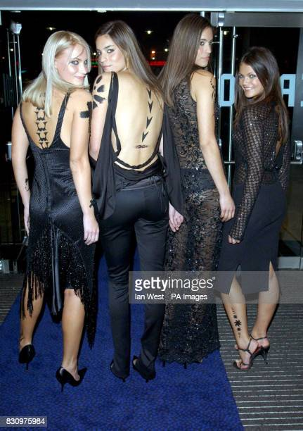Magazine's Pit Girls at the R.U.S.I. In Whitehall, London at a party following the gala premiere of the film xXx.
