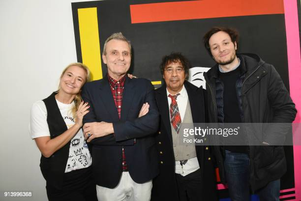 Magda Danysz from Galerie Magda Danysz fashion designer Jean Charles de Castelbajac singers Laurent Voulzy and Vianney attend 'I Want The Empire of...