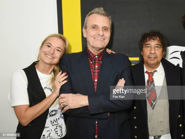 Magda Danysz from Galerie Magda Danysz fashion designer Jean Charles de Castelbajac and singer Laurent Voulzy attend 'I Want The Empire of...