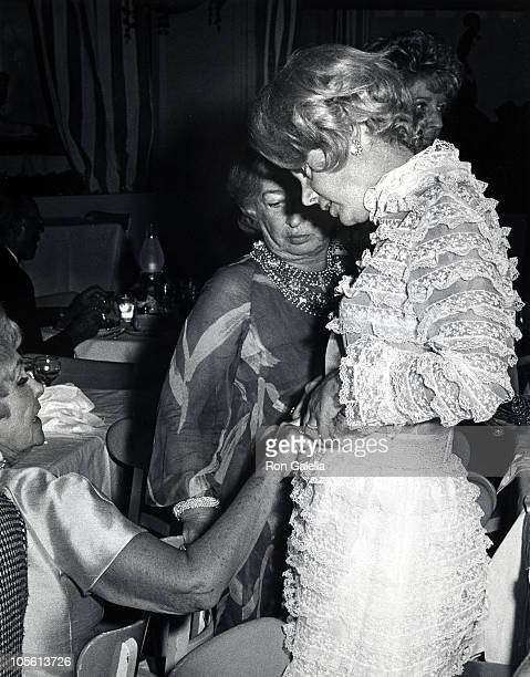 Magda Gabor and Barbara Marx during Raquet Club's Private Party April 12 1968 at Raquet Club in Palm Springs California United States