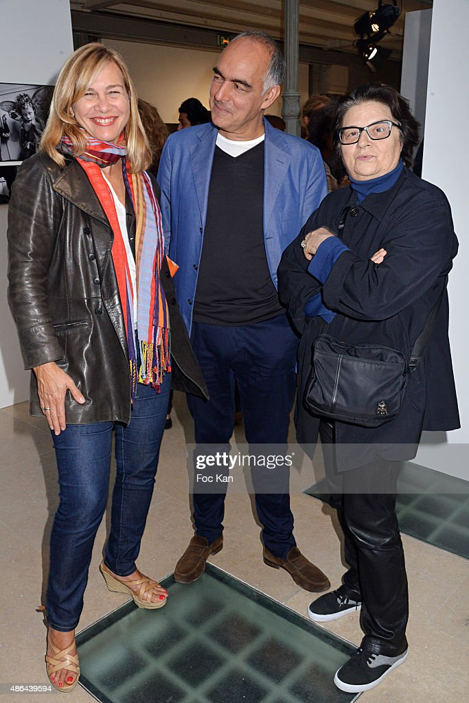 Magda Herrera, Paul Rambali and Francoise Huguier attend the World Press 2015 Exhibition Preview at Galerie Azzedine Alaia on September 3, 2015 in Paris, France.