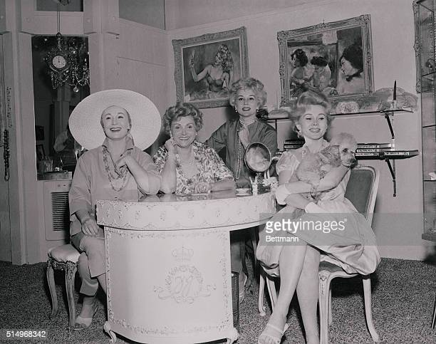Magda Jolie Eva and Zsa Zsa all left to right get together in their Palm Springs jewelry salon in the heart of downtown Palm Springs The foursome are...