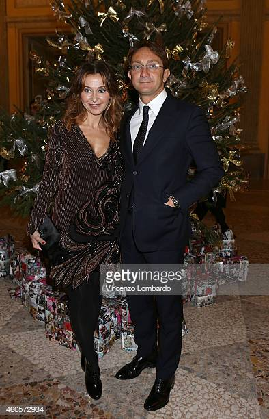Magda Pozzo and Fabio Barzaghi attend the Fondazione IEO CCM Christmas Dinner For on December 16 2014 in Monza Italy