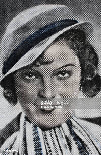 Magda Schneider was a German actress and singer, digital improved reproduction of an historical image