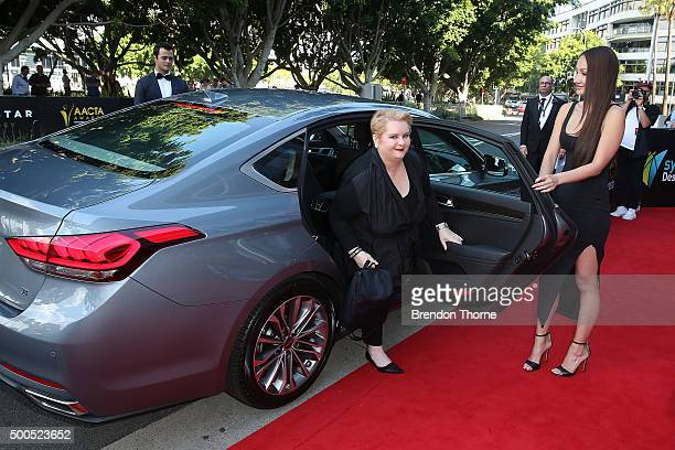 Magda Szubanski arrives ahead of the 5th AACTA Awards Presented by Presto at The Star on December 9 2015 in Sydney Australia