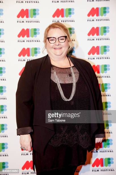 Magda Szubanski arrives ahead of the world premiere of Three Summers as part of the 66th Melbourne International Film Festival on August 12 2017 in...