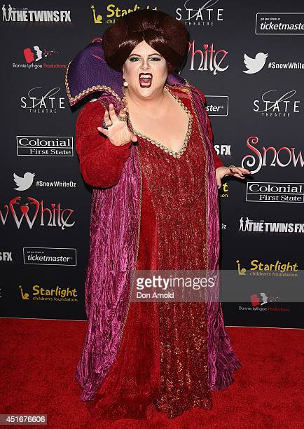 Magda Szubanski attends the media call for Snow White Winter Family Musical at the State Theatre on July 4 2014 in Sydney Australia