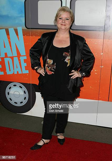 Magda Szubanski attends the opening night of the St George OpenAir Cinema and Sydney premiere of Bran Nue Dae at Mrs Macquaries Point Royal Botanic...