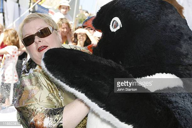 Magda Szubanski during 'Happy Feet' Australian Premiere Blue Carpet December 10 2006 at Entertainment Quarter in Sydney NSW Australia