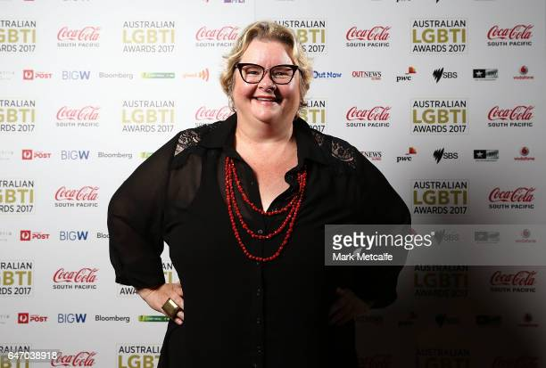 Magda Szubanski poses at the Australian LGBTI Awards 2017 at Sydney Opera House on March 2 2017 in Sydney Australia